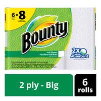 Bounty Paper Towel Rolls - Big (2ply)