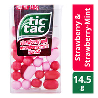 Tic Tac Candies - Strawberry & Strawberry-Mint