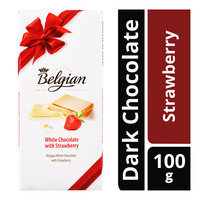 The Belgian White Chocolate Bar - Strawberry