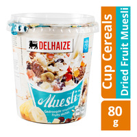 Delhaize Cup Cereals - Dried Fruit Muesli  80G
