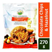 Naturell Oat Cookies - Chocolate Chips & Hazelnut