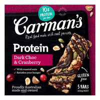 Carman's Gourmet Protein Bars - Dark Chocolate & Cranberry