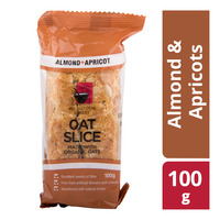 All Natural Bakery Oat Slice - Almond & Apricot 100G