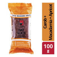 All Natural Bakery Oat Slice - Carob + Macadamia + Apricot