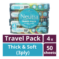 Neutra Travel Pack Tissues - Thick & Soft (3ply)
