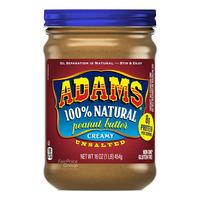 Adams 100% Natural Peanut Butter - Creamy (Unsalted)