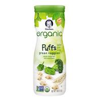 Gerber Organic Baby Puffs - Green Veggies
