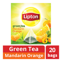 Lipton Pyramids Green Tea Bags - Mandarin Orange