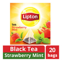 Lipton Pyramids Black Tea Bags - Strawberry Mint
