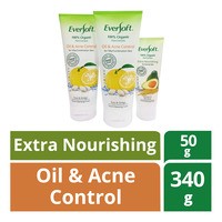 Eversoft Organic Cleanser -Oil Acne Control+50g Extra Nourish