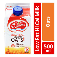 F&N Magnolia Plus Lo-Fat Hi-Cal Milk - Oats