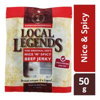 Local Legends Beef Jerky - Nice & Spicy