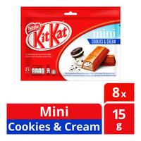 Nestle Kit Kat Mini Chocolate Bar - Cookies & Cream  8 x 15G