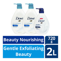 Dove Body Wash - Gentle Exfoliating + BeautyNourishing