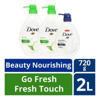 Dove Body Wash - Fresh Touch + Beauty Nourishing