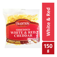Tradition Shredded Cheddar Cheese - White & Red
