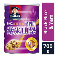 Quaker Instant Oatmeal Flake Tin - Black Rice & Yam