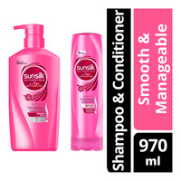 Sunsilk Hair Shampoo & Conditioner - Smooth&Manageable