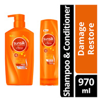 Sunsilk Hair Shampoo & Conditioner - Damage Restore