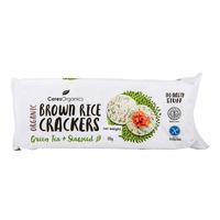 Ceres Organics Brown Rice Crackers - Green Tea + Seaweed