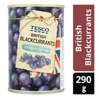 Tesco Berries in Light Syrup - British Blackcurrants