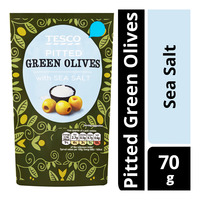 Tesco Pitted Green Olives - with Sea Salt
