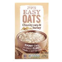 Tesco Easy Oats Porridge - Chunky Oats & Barley