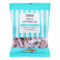 Tesco Flavoured Sweets - Mint Humbugs