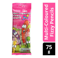 Tesco Fruit Flavour Sweets - Multi-Coloured Fizzy Pencils