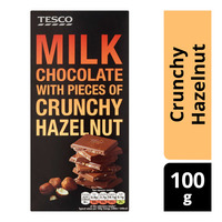 Tesco Milk Chocolate Bar - Crunchy Hazelnut