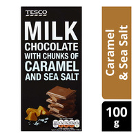 Tesco Milk Chocolate Bar - Caramel & Sea Salt