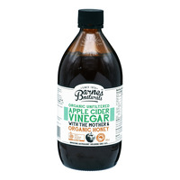 Barnes Naturals Organic Vinegar - Apple Cider with Honey