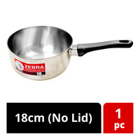 Zebra Stainless Steel SUS 304 Sauce Pan - 18cm (No Lid)