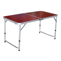 Imported Aluminium Foldable Table - Red
