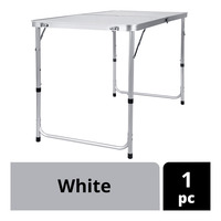 Imported Aluminium Foldable Table - White