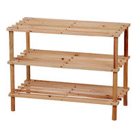 Imported Firwood Shoe Rack - 3 Tier