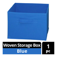 Imported Woven Storage Box - Blue
