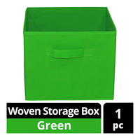 Imported Woven Storage Box - Green
