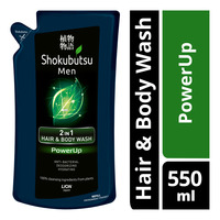 Shokubutsu Men 2 in 1 Hair & Body Wash Refill - PowerUp