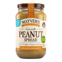Mayver's Organic Peanut Spread - Smooth