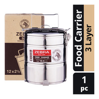 Zebra Stainless Steel Food Carrier - 3 Layer
