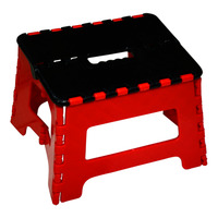 Imported Foldable Mini Stool - Red