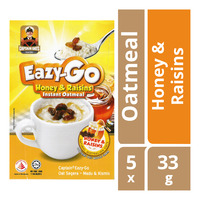 Captain Oats Eazy-Go Instant Oatmeal - Honey & Raisins