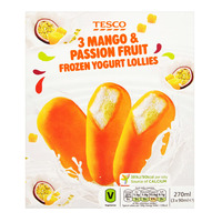 Tesco Frozen Yogurt Lollies - Mango Passion Fruit