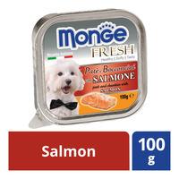 Monge Fresh Pate & Chunkies Dog Food - Salmon