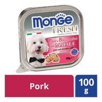 Monge Fresh Pate & Chunkies Dog Food - Pork