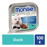 Monge Fresh Pate & Chunkies Dog Food - Duck