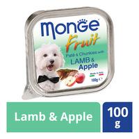 Monge Fruit Pate & Chunkies Dog Food - Lamb & Apple