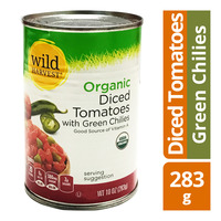 Wild Harvest Organic Diced Tomatoes - Green Chilies