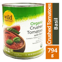 Wild Harvest Organic Crushed Tomatoes - Basil